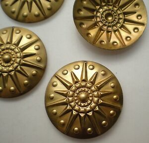4 large brass sun charms #9 with HOLE $5.00