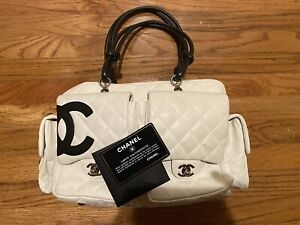 AUTHENTIC CHANEL LARGE LIGNE CAMBON QUILTED LEATHER REPORTER BAG $1999.00