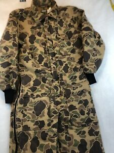 SafTBak Camo Coveralls Size XL Hunting Thinsulate Vintage Lined