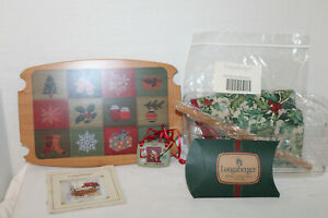 LONGABERGER PROTECTOR LID FABRIC TIE FOR 2002 TRADITIONS BASKET CHRISTMAS $18.99