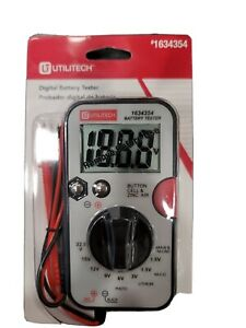Digital Battery Tester With Test Leads $14.99