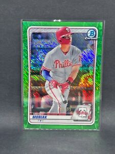 2020 Bowman Chrome Green Refractor 99 Mickey Moniak Phillies $8.00