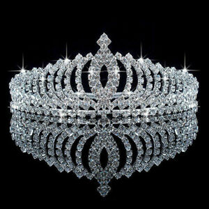Queen Princess Silver Tiara Crown Wedding Bridal Party Prom Pageant Lady Girl $9.85