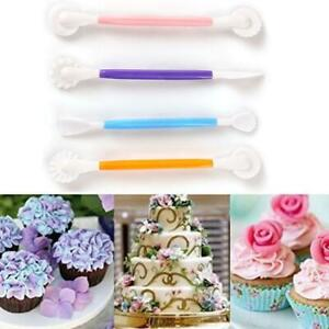 4pcs carving tools Fondant Cake Mould Pastry Making Carved Molds Tools DIY U S