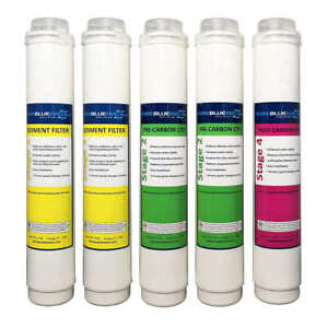 Pure Blue H2O Reverse Osmosis Filter System Replacement Filters White 5 Pc $78.49
