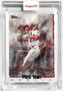 Topps Project70 Card #64 1995 MIKE TROUT by Chuck Styles In Hand