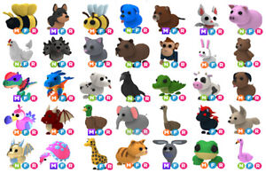 Adopt me Pets Mega Neon Fly Ride Potions Eggs Royal Pet Fossil Cheap Roblox