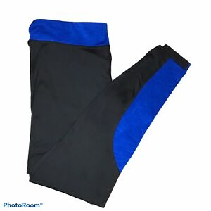 Under Armour Cold Gear Leggings Fitted Black Blue Large $22.00