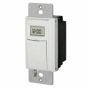 Intermatic ST01 7 Day Programmable In Wall Digital Timer Switch for Lights