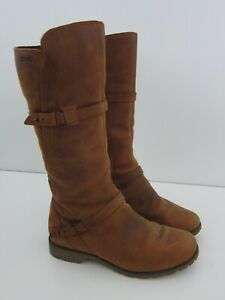 Teva Delavina Brown Leather Waterproof Tall Riding Boot Women Size 8 39 $67.49