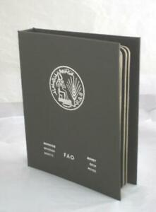 1977 FAO World Coin Album #6 brown complete Proof BU 41 Coins some silver $149.99