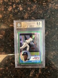 Ronald Acuna Jr BGS 9.5 Gem 2018 Topps Chrome Green Refractor Rookie # 99 SSP $624.99