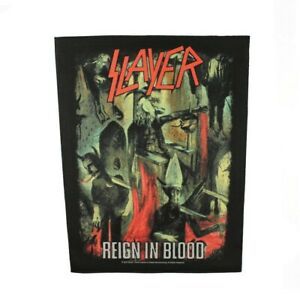 XLG Slayer Reign In Blood Back Patch Band Singer Heavy Metal Sew On Applique $12.95