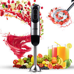 Hand Held Blender Stick 500 WATT Immersion 2 Speed Turbo Mixer 2 Titanium Blades $21.21