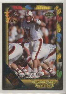 1991 Wild Card 50 Stripe Browning Nagle #44 Rookie $6.28