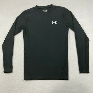 UNDER ARMOUR Heat Gear Compression Shirt Large Long Sleeve Mens Work Out $12.99