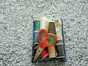 Old Mini Sewing Travel Kit and Scissors $10.00