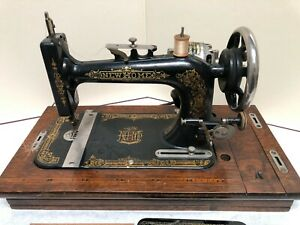 Antique New Home Sewing Machines w Original Case amp; Foot Control Pedal $249.99