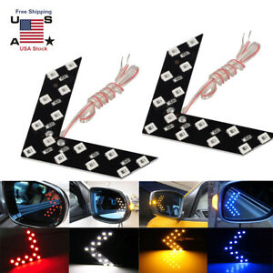 2pcs Auto Car Side Rear View Mirror 14SMD LED Lamp Turn Signal Light Accessories $6.97