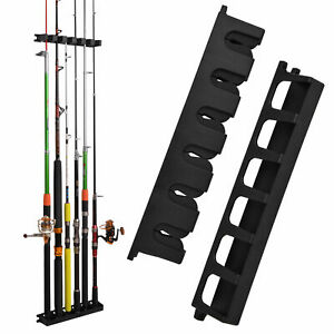 Vertical Boat Rod Rack Vertical Fishing Holder Wall Mount Storage Pole Stand
