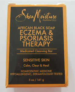 Shea Moisture African Black Bar Soap Eczema amp; Psoriasis Therapy 1 2 Bars