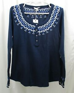 Women#x27;s Lucky Brand Embroidered Thermal Shirt Large