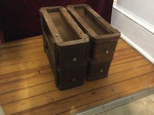 4 Antique Sewing Machine Drawers With 2 Frames. $45.00