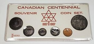 1967 Canada Retro Vintage Holder 6 Coin Set Includes Silver White C $49.95