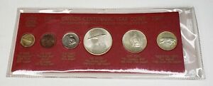 1967 Canada Retro Vintage Holder 6 Coin Set Includes Silver Red C $49.95