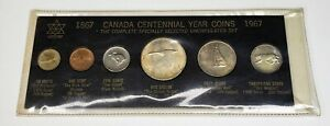 1967 Canada Retro Vintage Holder 6 Coin Set Includes Silver Black C $49.95