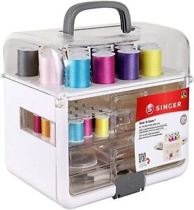 Sewing Kit amp; Craft Organizer Sewing Case Storage with Machine Sewing Thread $53.99