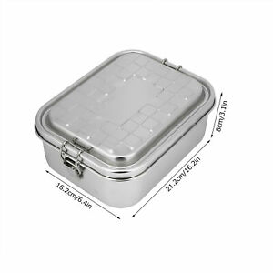 Single Layer Lunch Box Food Bento Container Stainless Steel 304 Home Accessor HG