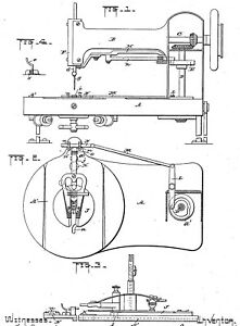 Antique sewing machine: SINGER patents history 1851 1919 $15.50