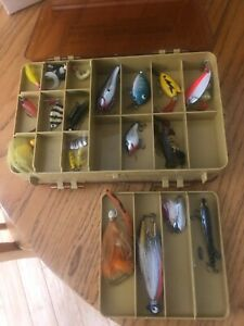 Vintage Rapala Lures Collection in Mini Magnum Side Kick 3215 Tackle Box