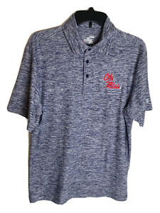 Under Armour Golf Polo Shirt Size Medium Ole Miss University of Mississippi NWT $29.97