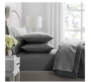 HOTEL PREMIER COLLECTION 650 THREAD COUNT EGYPTIAN COTTON SHEET SET QUEEN SOLI