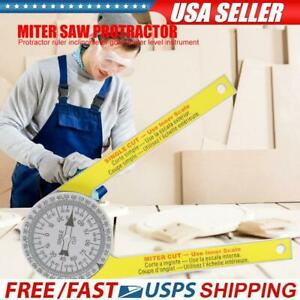 ABS Digital Protractor Ruler Inclinometer Goniometer Level Measuring Tool USA $10.82