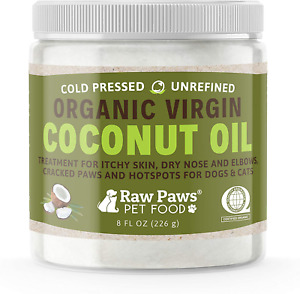 Raw Paws Organic Coconut Oil for Dogs amp; Cats 8 oz Treatment for Itchy Skin D