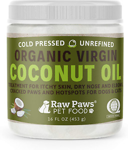 Raw Paws Organic Coconut Oil for Dogs amp; Cats 16 oz Treatment for Itchy Skin