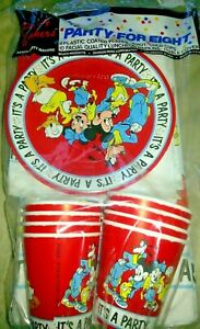 Mickey Mouse Donald Duck Birthday Party Supply Set Napkins Table cover Disney