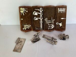 Antique Singer Sewing Wood Puzzle Box with Attachments $75.00