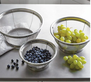 Pampered Chef Stainless Steel Mesh Colander Set Free shipping