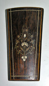 Antique Case Necessary IN Sewing Wood Marquetry Rosewood Silk Napoleon III $95.50