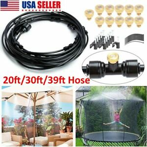 20FT 30FT 39.37FT Outdoor Misting Cooling System Garden Water Mister Nozzles Set