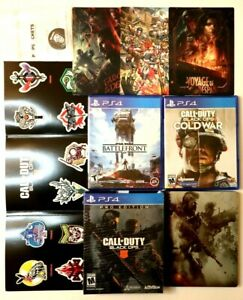 PS4 Game Lot Call Duty Black Ops IIII Pro Edition Cold War Star Wars Battlefront $89.99