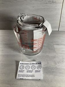 Anchor Hocking 77940 3 Piece Measuring Cup Set Set of 3 Clear