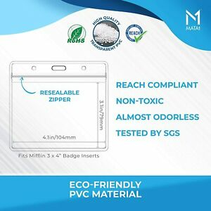 WATERPROOF Zip Vaccination Card Holder Record 4 x 3 Protector vaccine covid21