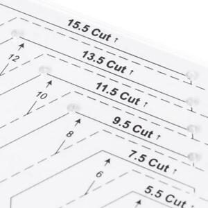 Hexagon Quilting Ruler Patchwork Plastic Template DIY Sewing Tools Useful $5.62
