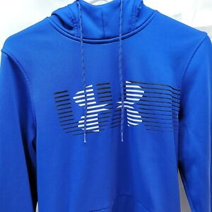 Mens Under Armour Cold Gear Hoodie Sweatshirt Loose Fit Blue Size Small $10.49