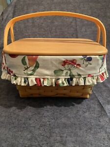 Longaberger Sewing Notions Basket with Lid $79.00